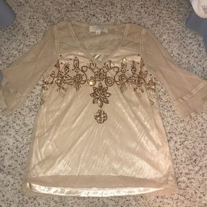 American Glamour by Badgley Mischka tunic top